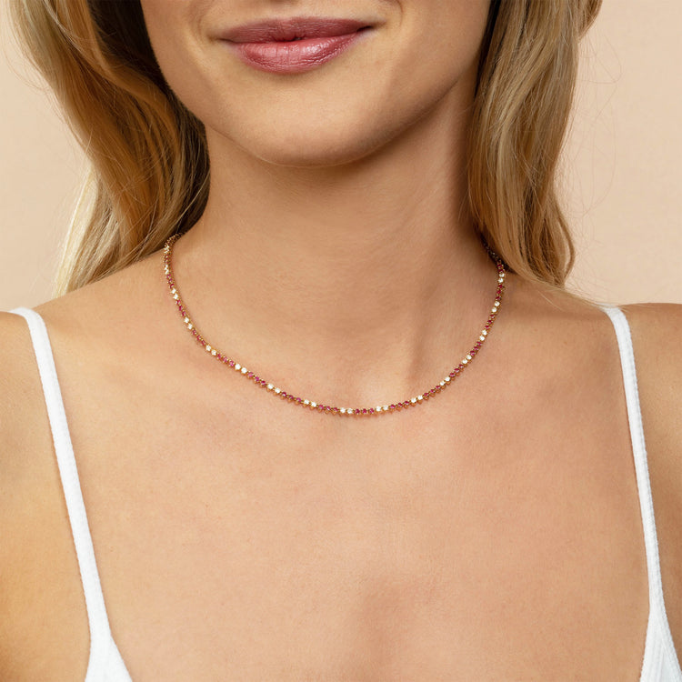 DIAMOND AND RUBY CLASSIC NECKLACE