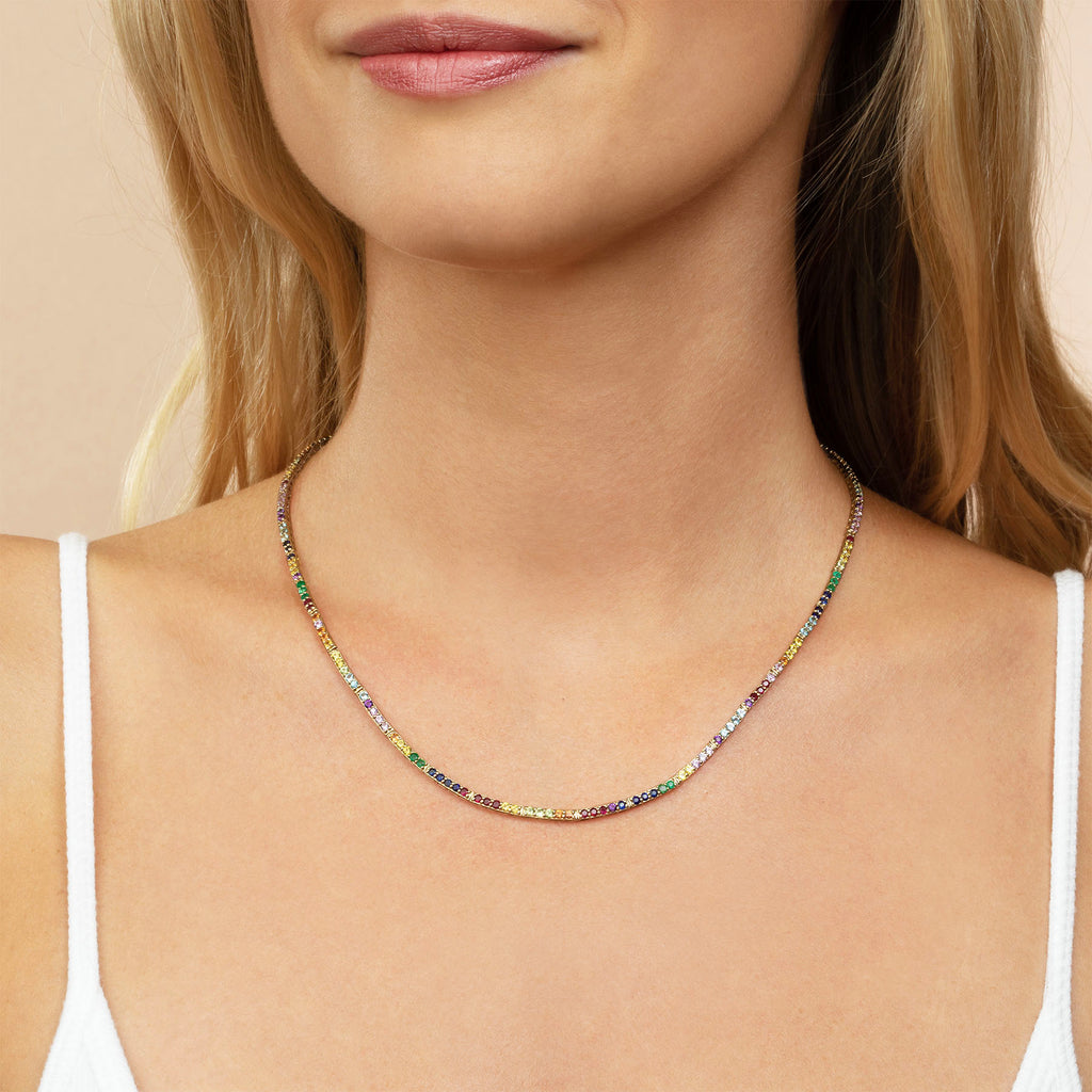 RAINBOW PERFECT ETERNITY NECKLACE
