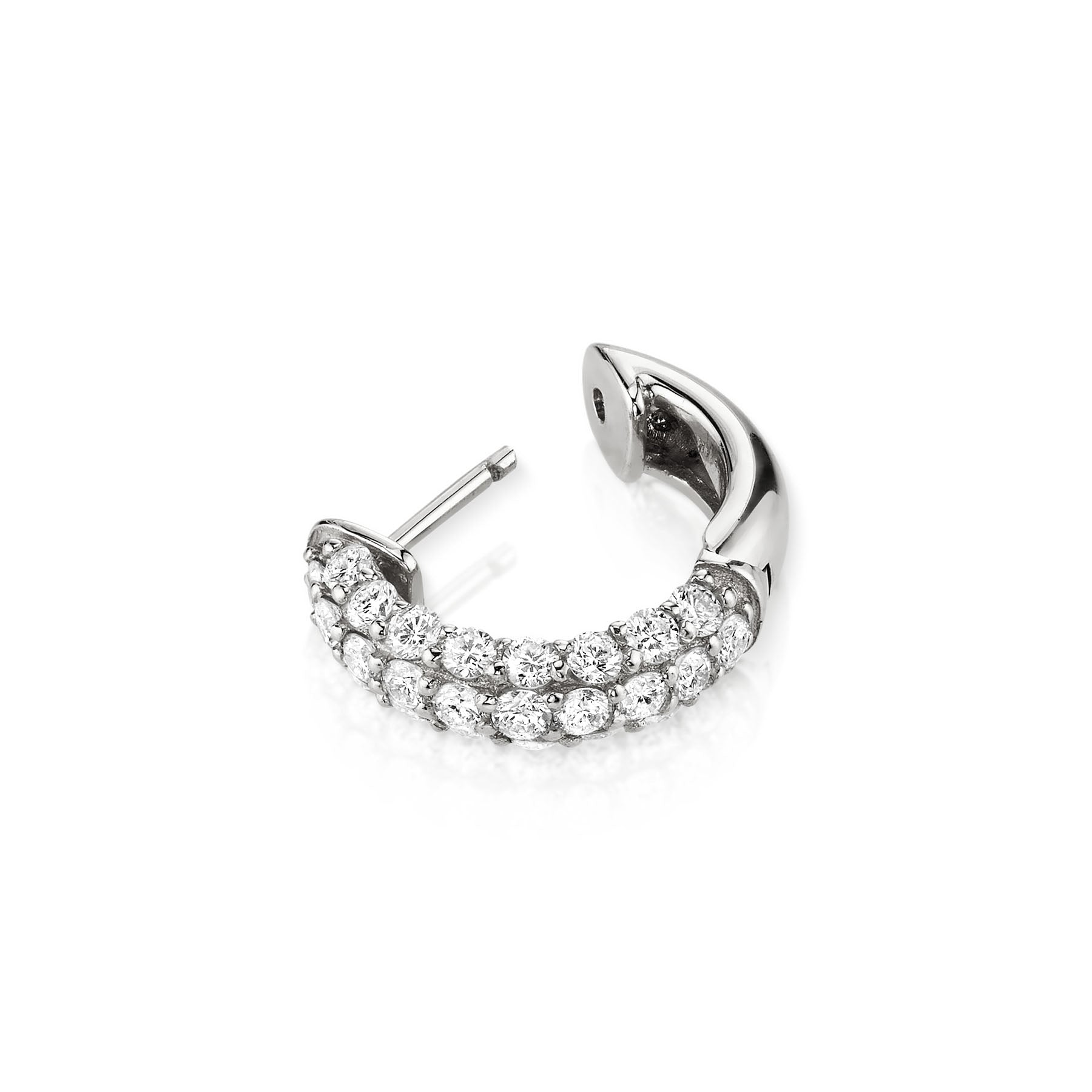 DIAMOND PAVÉ WIDE HOOP EARRING