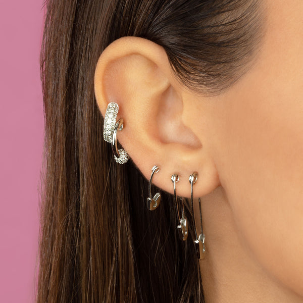 MEDIUM SAFETY PIN EARRING