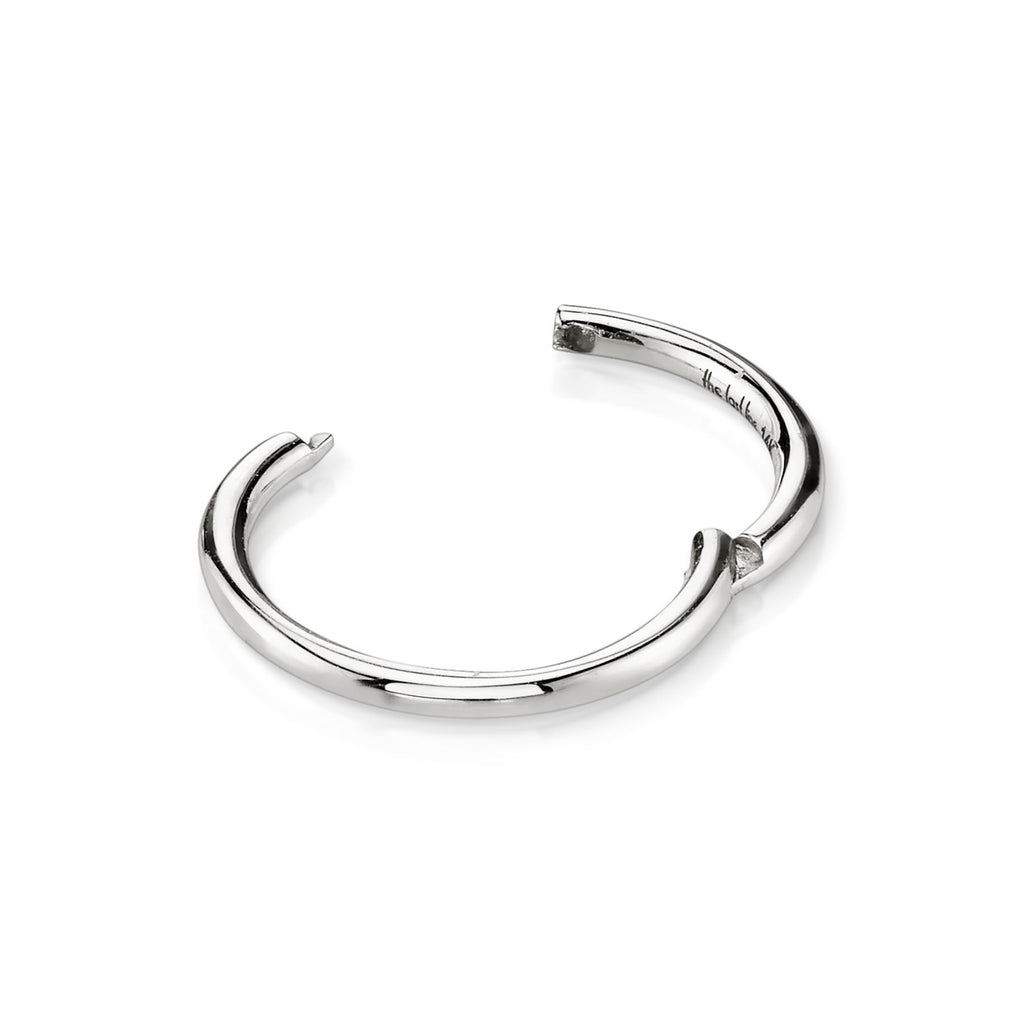 WHITE GOLD LARGE SEAMLESS HOOP EARRING