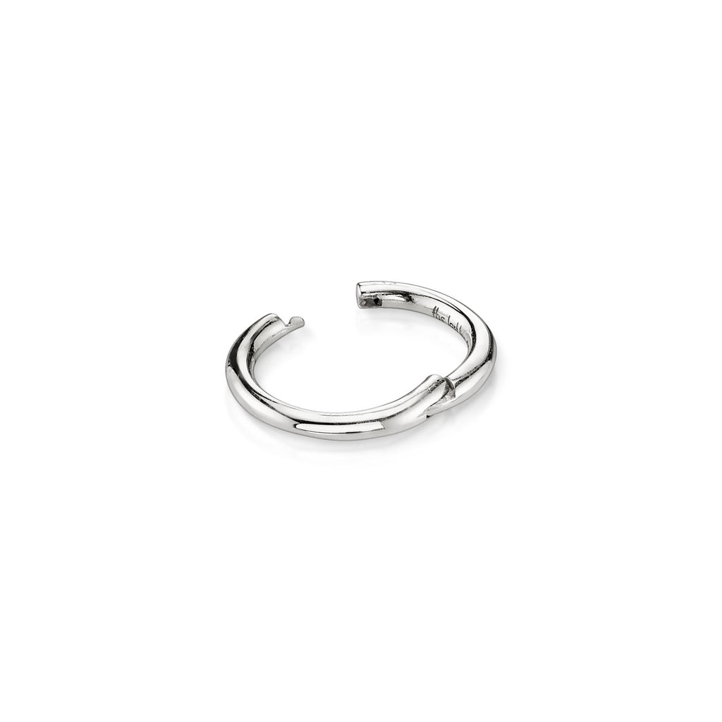 WHITE GOLD SMALL SEAMLESS HOOP EARRING