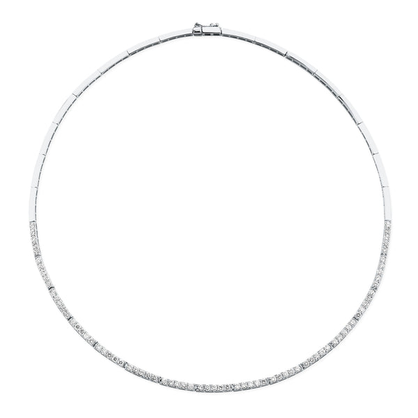 CRESCENT DIAMOND ETERNITY NECKLACE