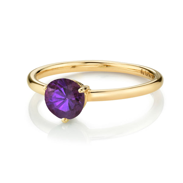 LARGE SOLITAIRE AMETHYST RING
