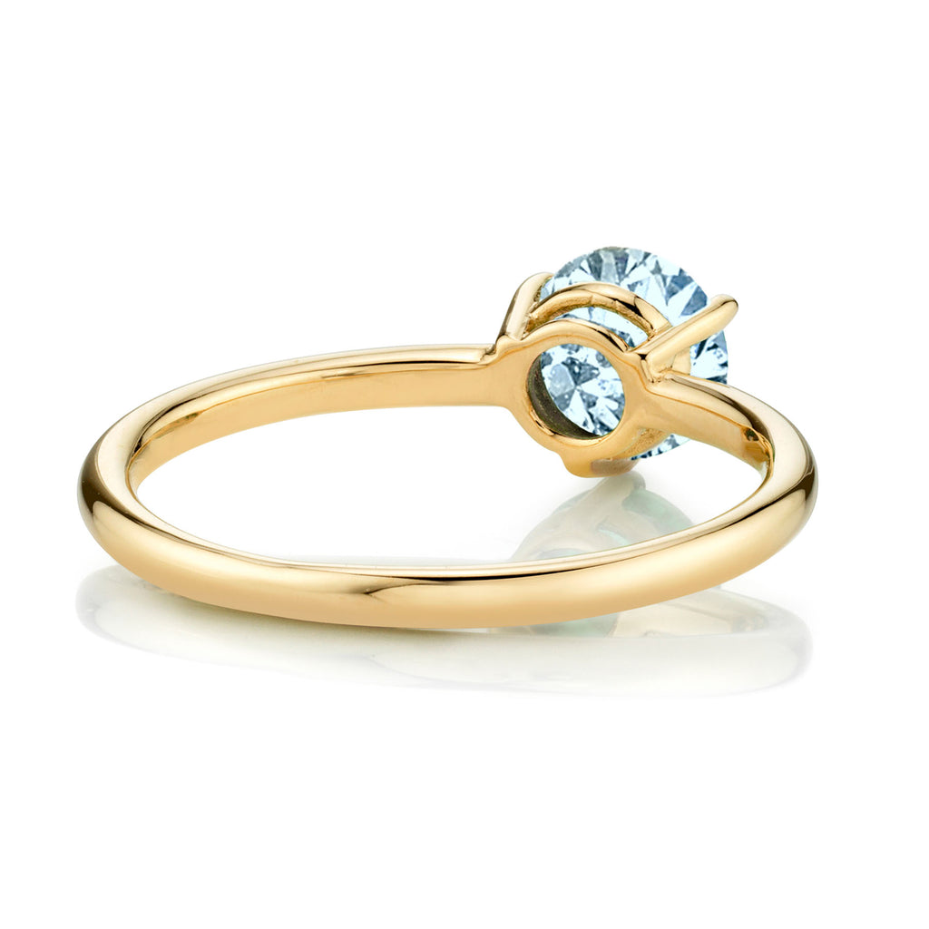 AQUAMARINE LARGE SOLITAIRE RING