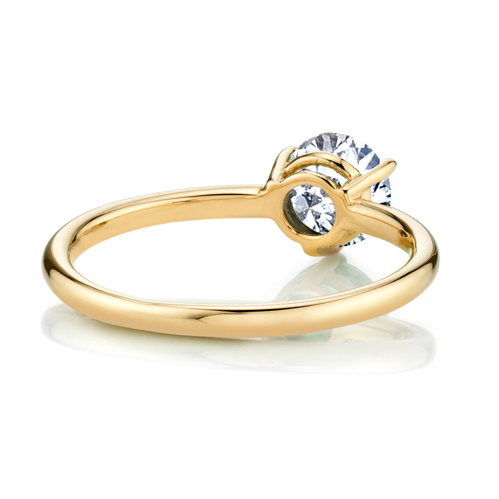 WHITE TOPAZ LARGE SOLITAIRE RING