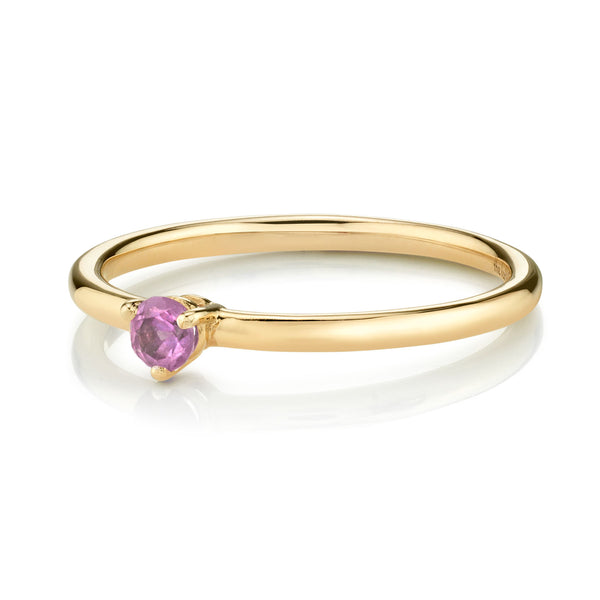 SOLITAIRE PINK TOURMALINE RING