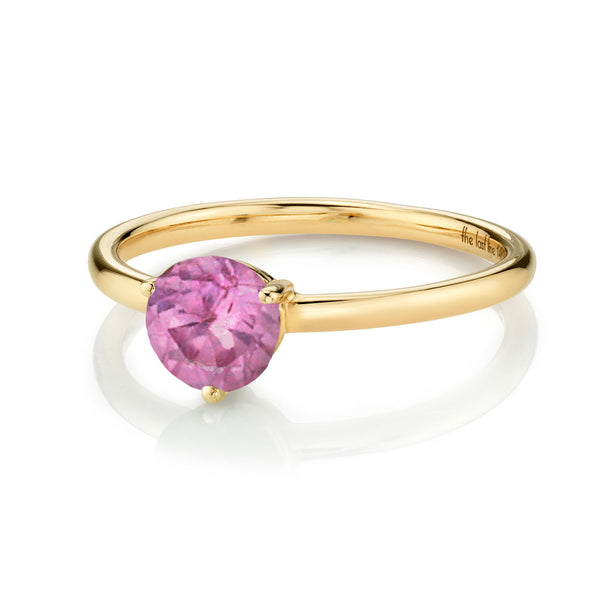 LARGE SOLITAIRE PINK TOURMALINE RING