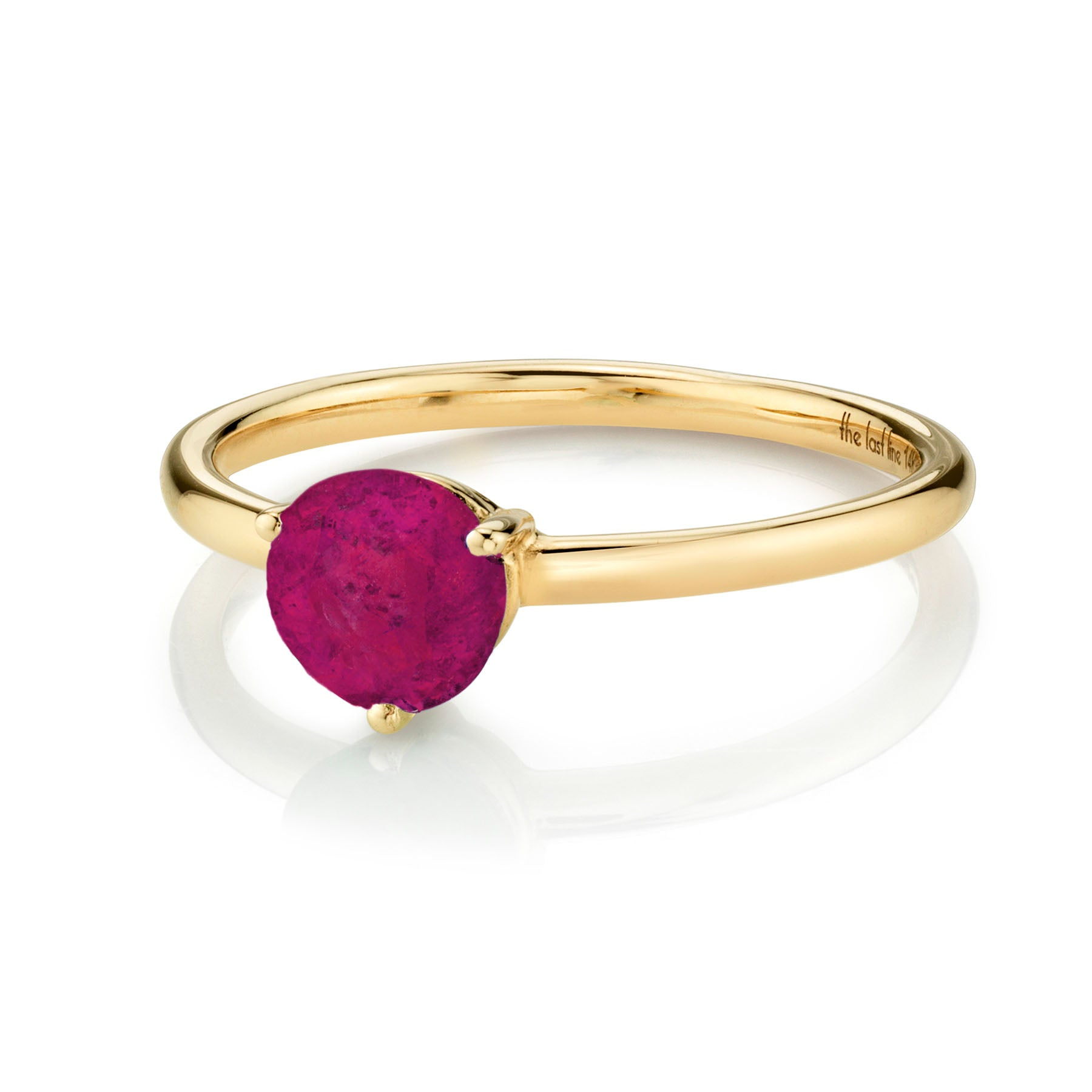 LARGE SOLITAIRE RUBY RING