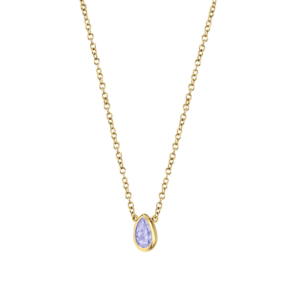 TANZANITE TEARDROP NECKLACE
