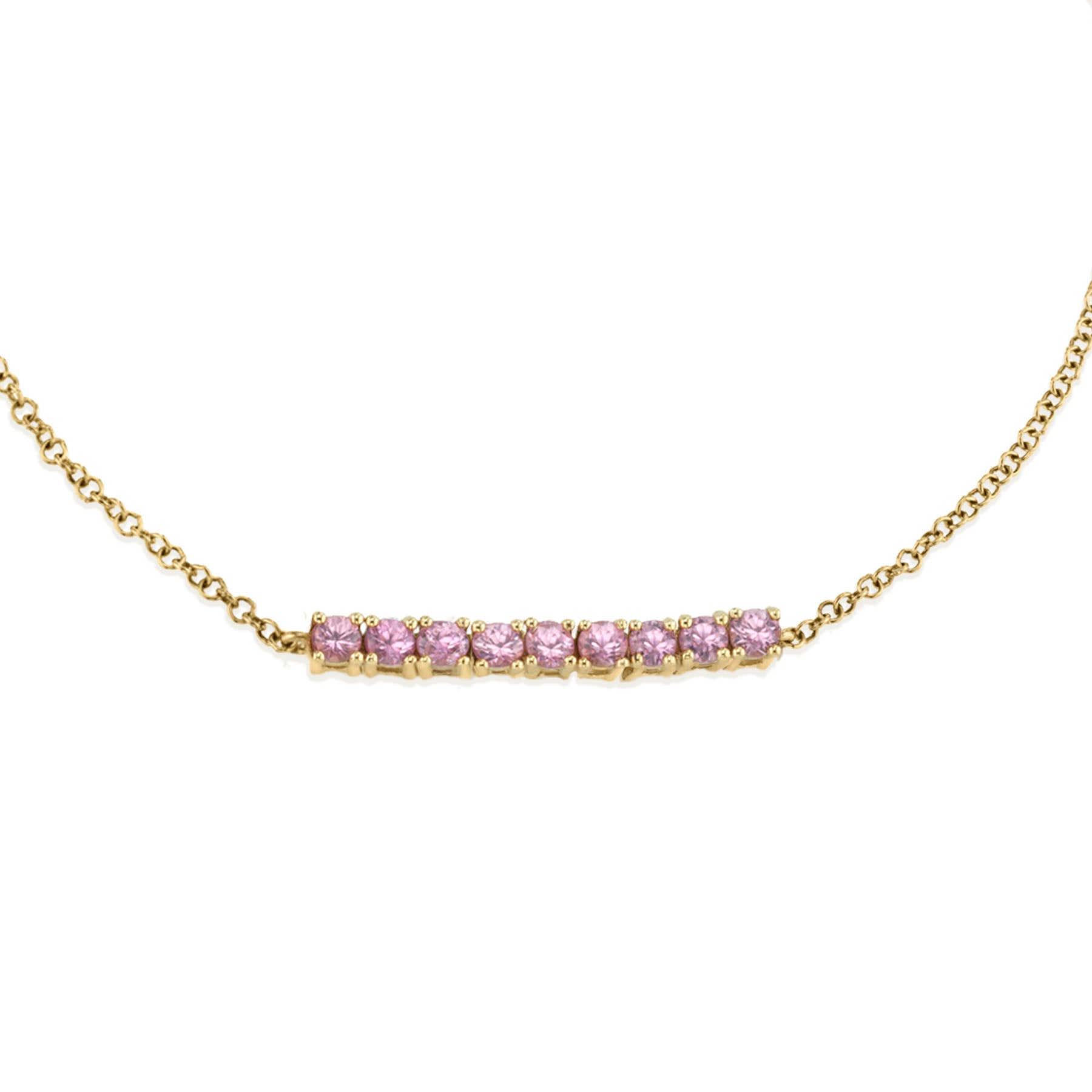 MINI PINK TOURMALINE TENNIS BRACELET