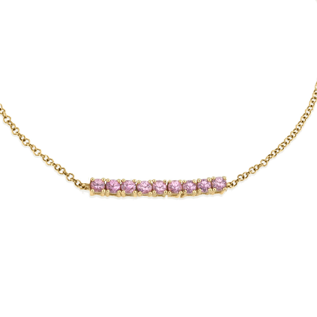 PINK TOURMALINE MINI TENNIS BRACELET