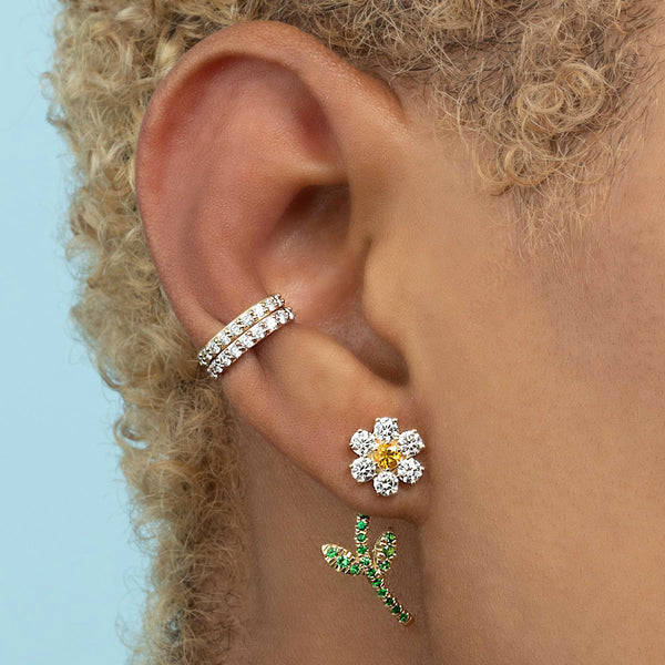 DIAMOND GOLDIE FLOWER EARRING