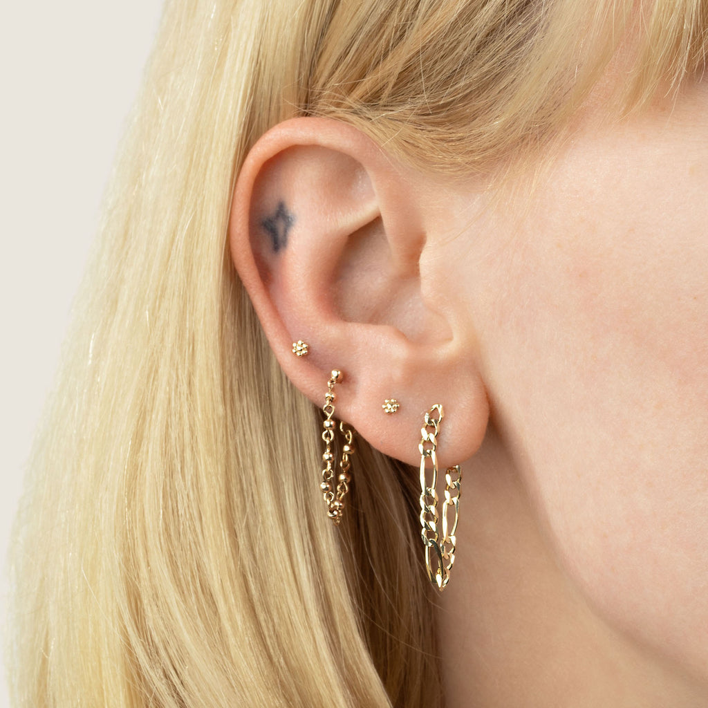 GOLD FIGARO CHAIN EARRING