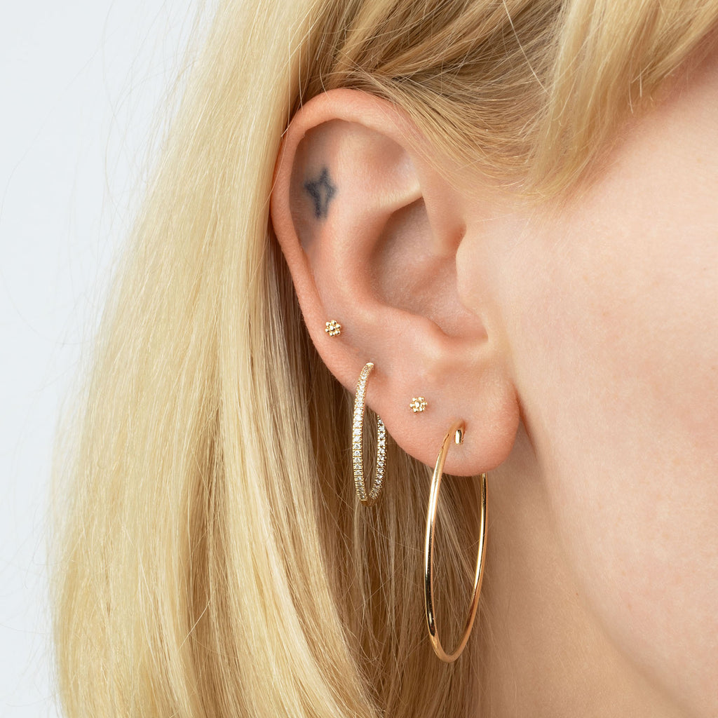 GOLD PERFECT HOOP EARRING