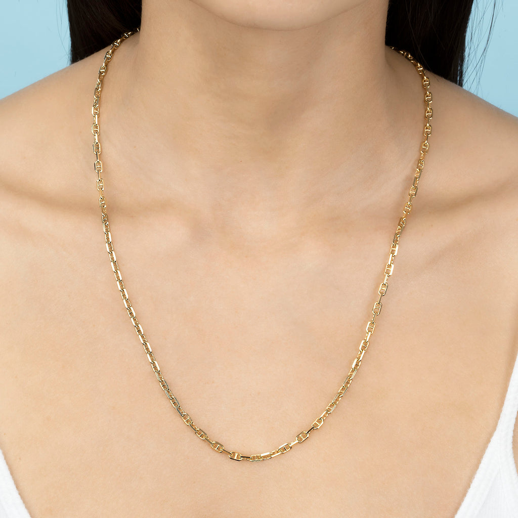 GOLD PERFECT ANCHOR CHAIN NECKLACE