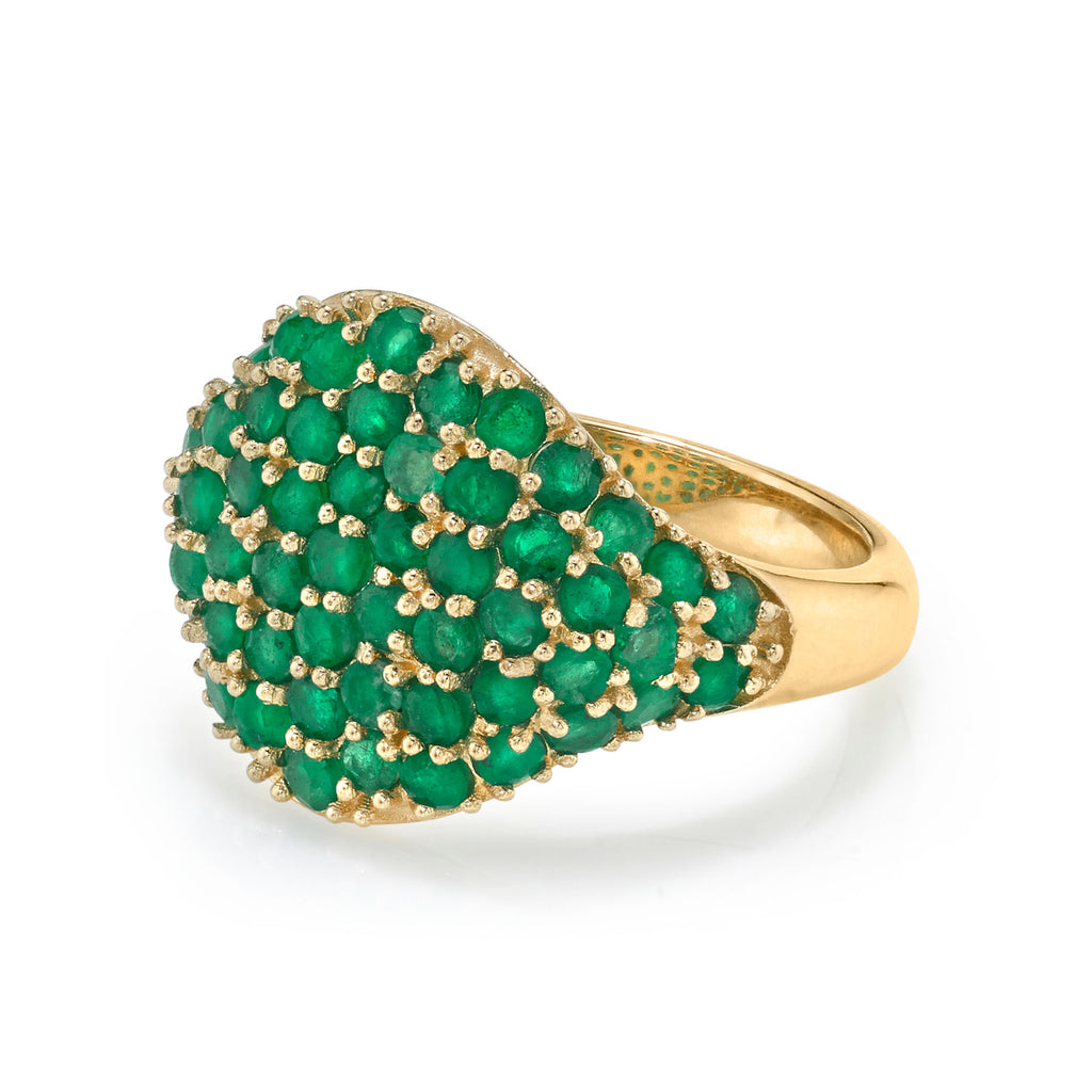 EMERALD SIGNET RING