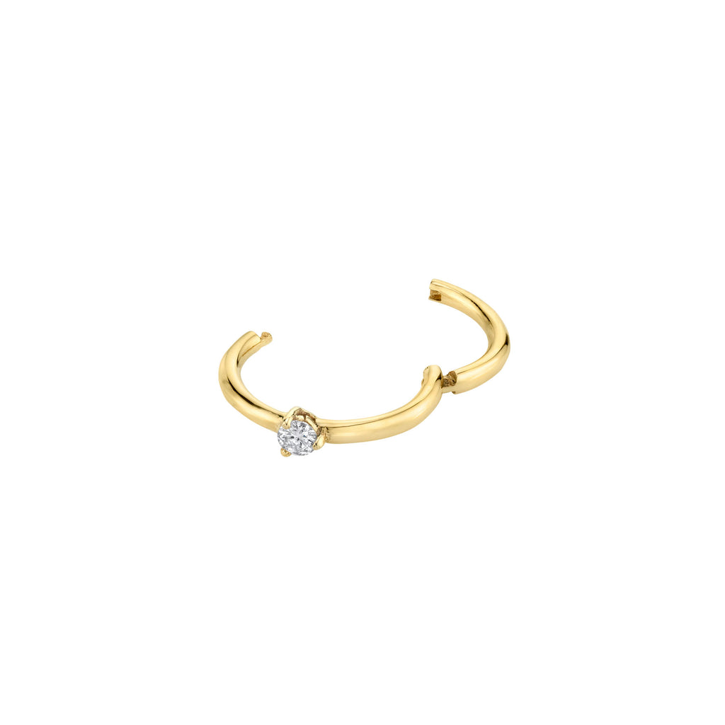 DIAMOND MEDIUM SEAMLESS HOOP EARRING