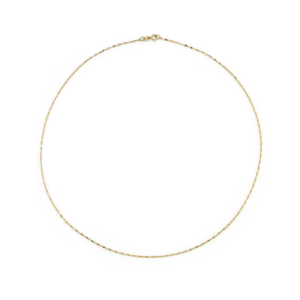 GOLD PETITE HORSESHOE LINK CHAIN NECKLACE