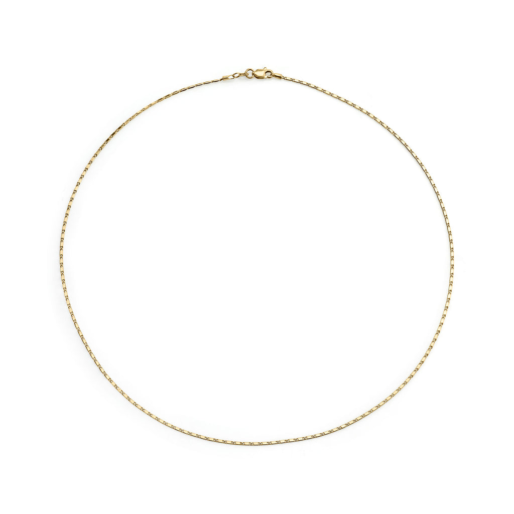 GOLD PETITE BAR CHAIN NECKLACE