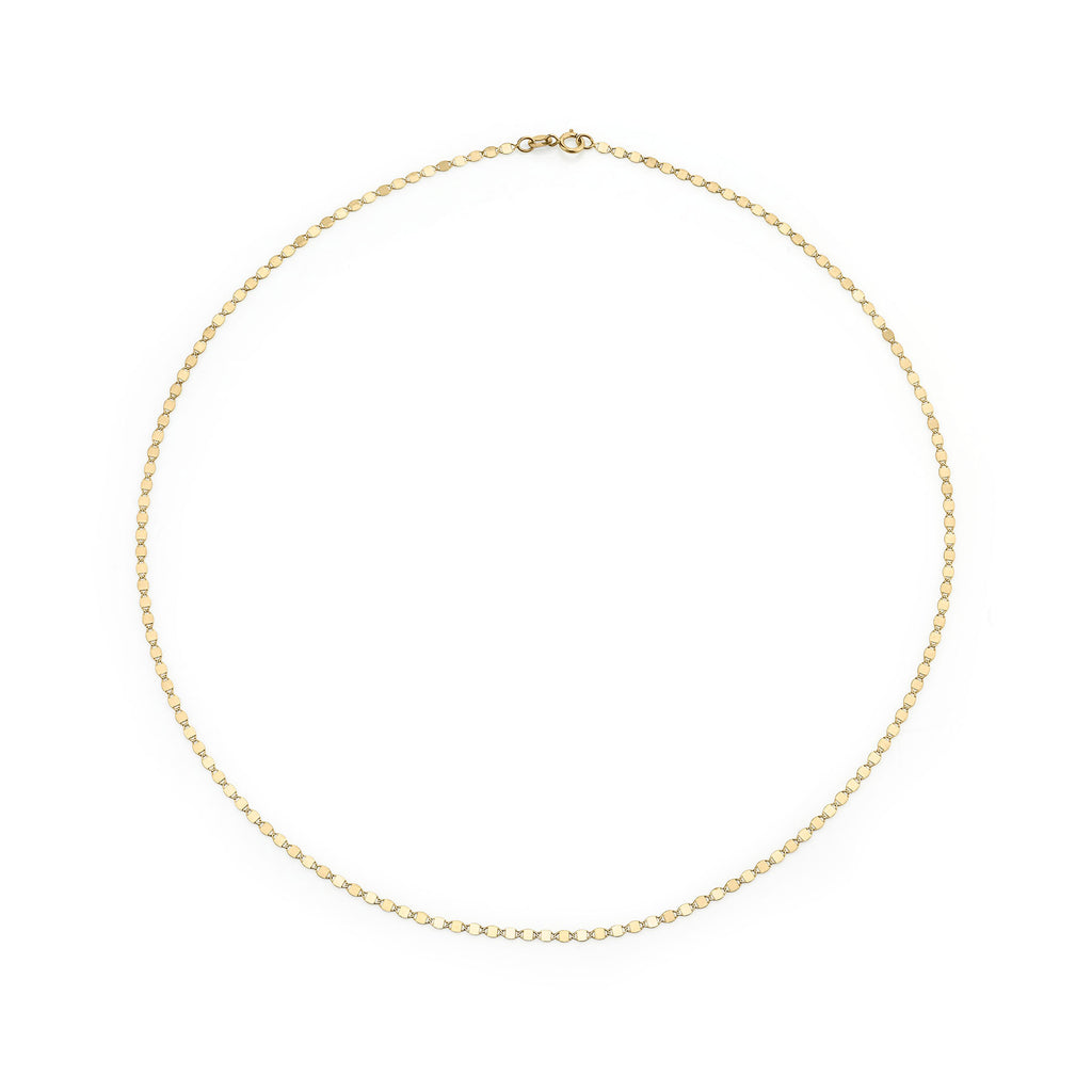 GOLD PETITE ANCHOR CHAIN NECKLACE