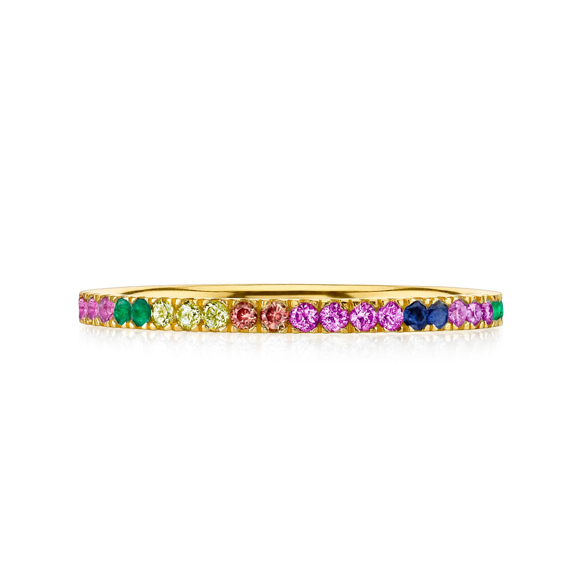 RAINBOW ETERNITY TOE RING