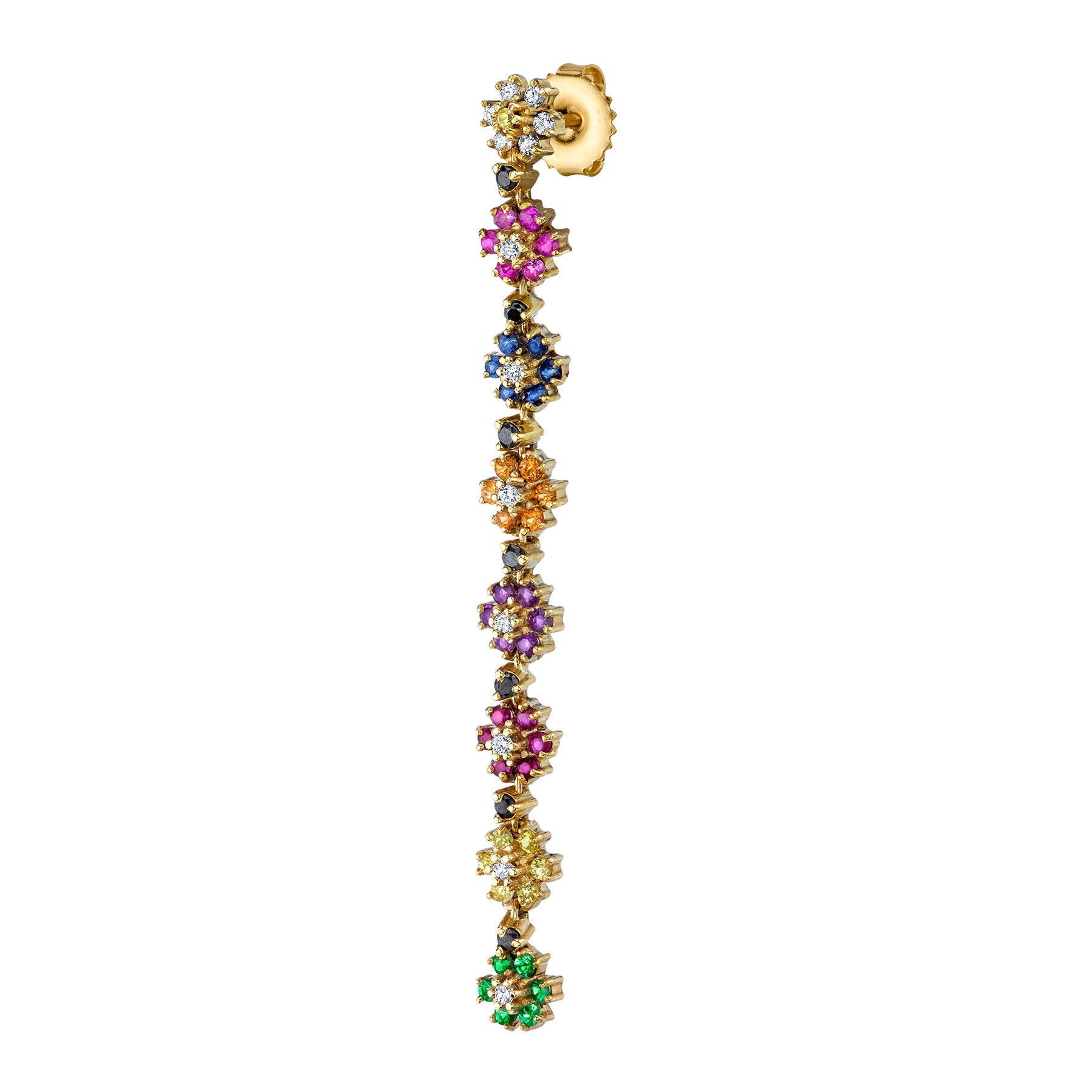 RAINBOW FLOWER DROP EARRING