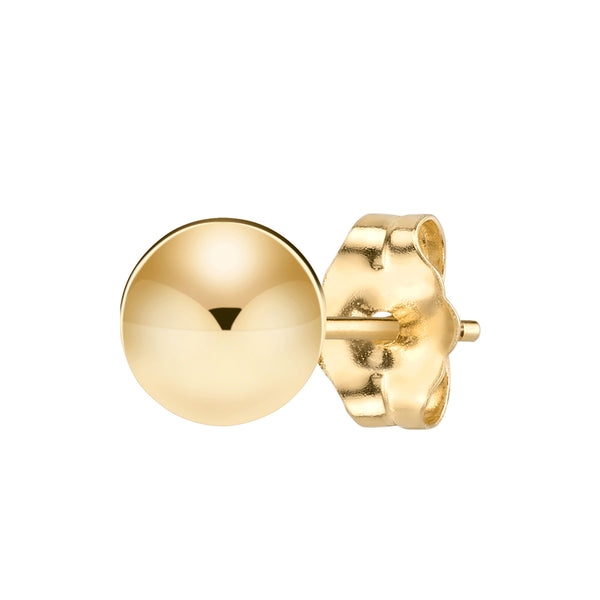 SPHERE STUD EARRING 6MM