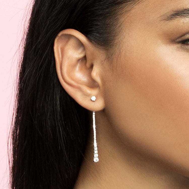 DIAMOND DEW DROP EARRING