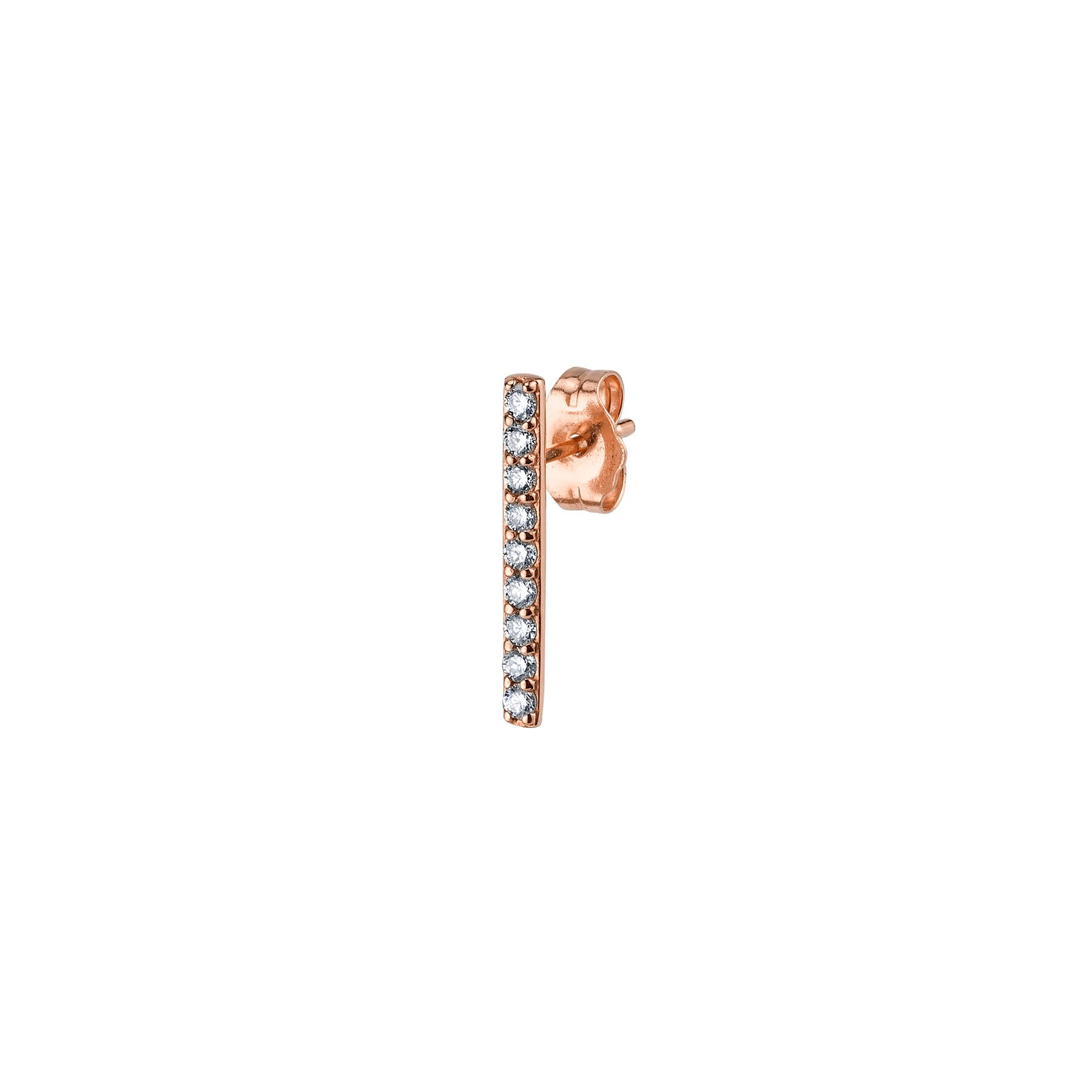 SMALL DIAMOND LINE EARRING