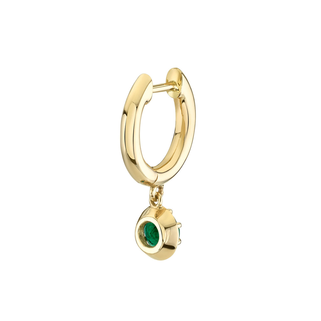 EMERALD ANTIQUE SLIM HOOP EARRING