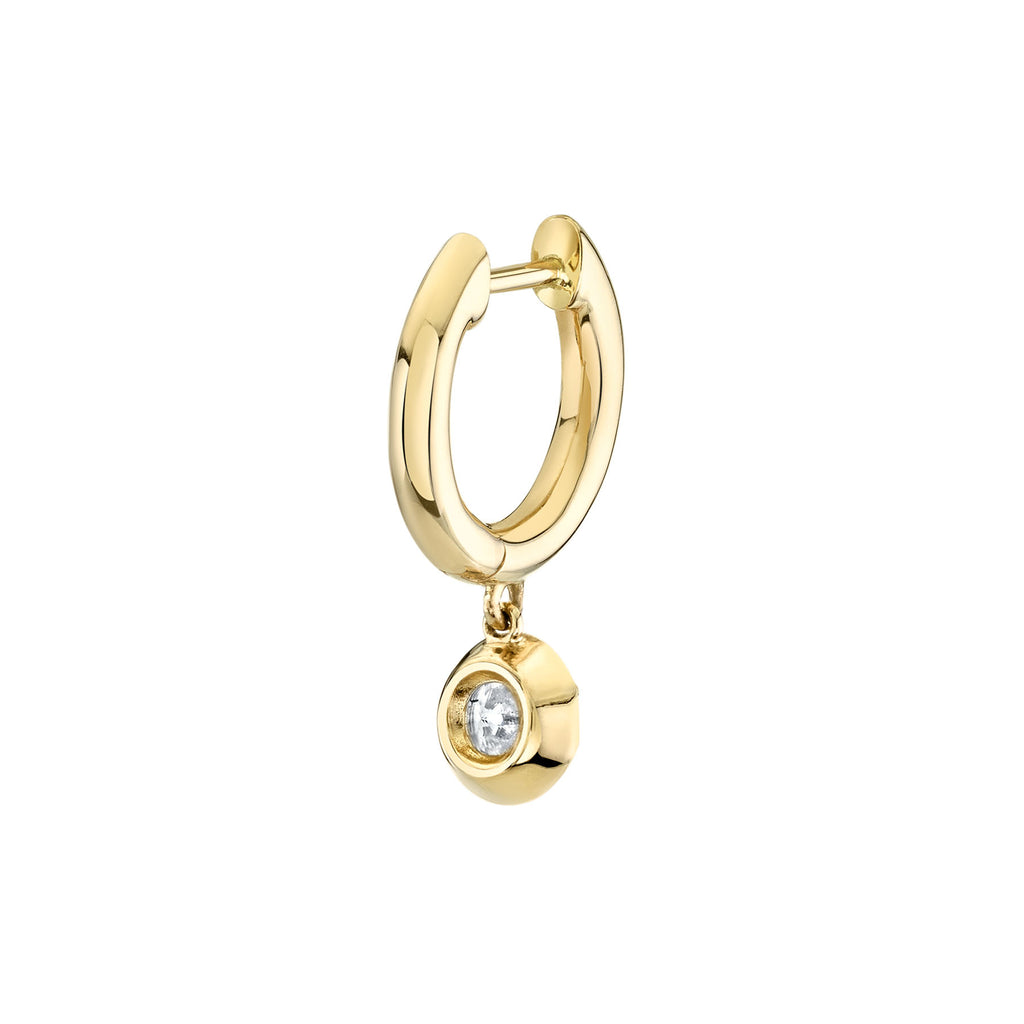 DIAMOND ANTIQUE SLIM HOOP EARRING
