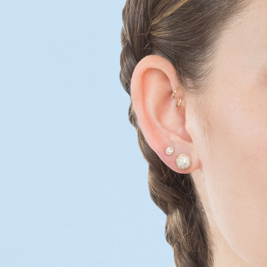 DIAMOND #5 PAVÉ STUD EARRING
