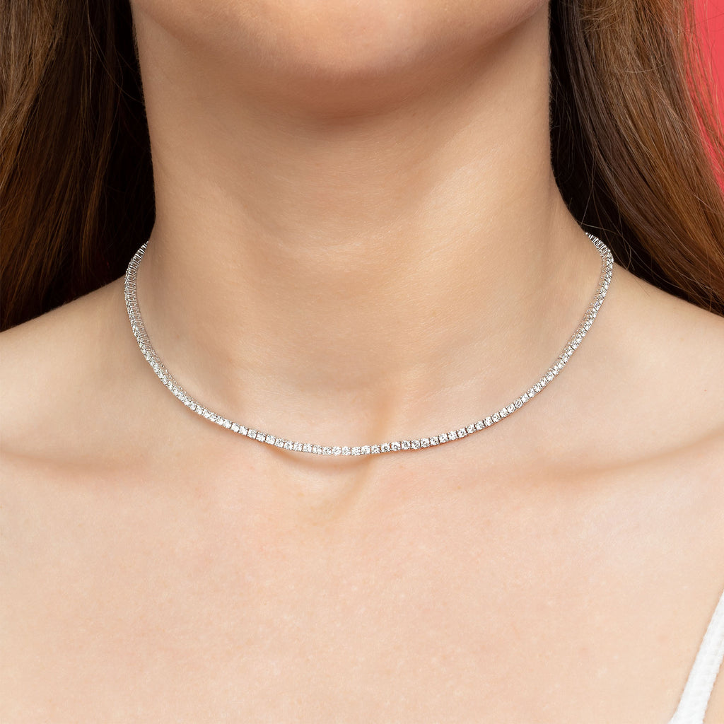 PERFECT DIAMOND COLLAR TENNIS NECKLACE