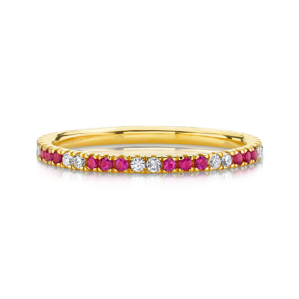 DIAMOND AND RUBY ETERNITY BAND