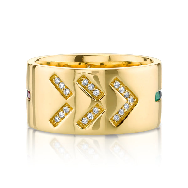 DIAMOND TATTOO WIDE CIGAR BAND