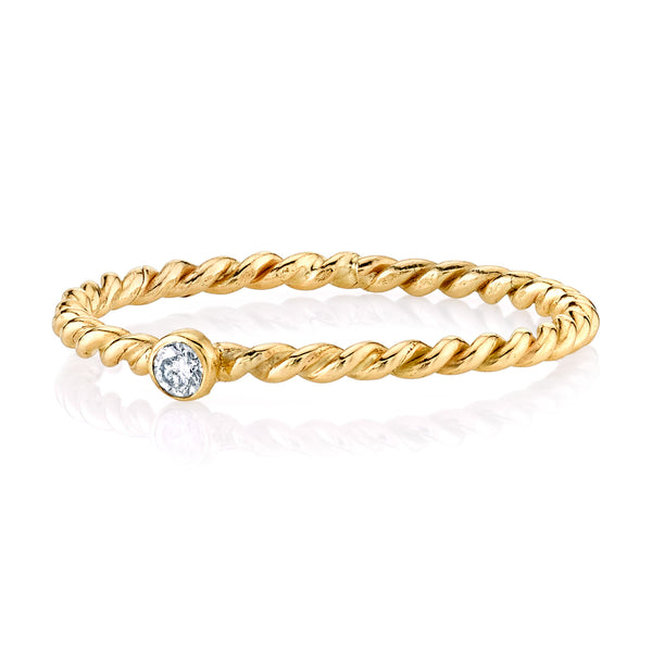 DIAMOND AND GOLD TWISTED BAND SET