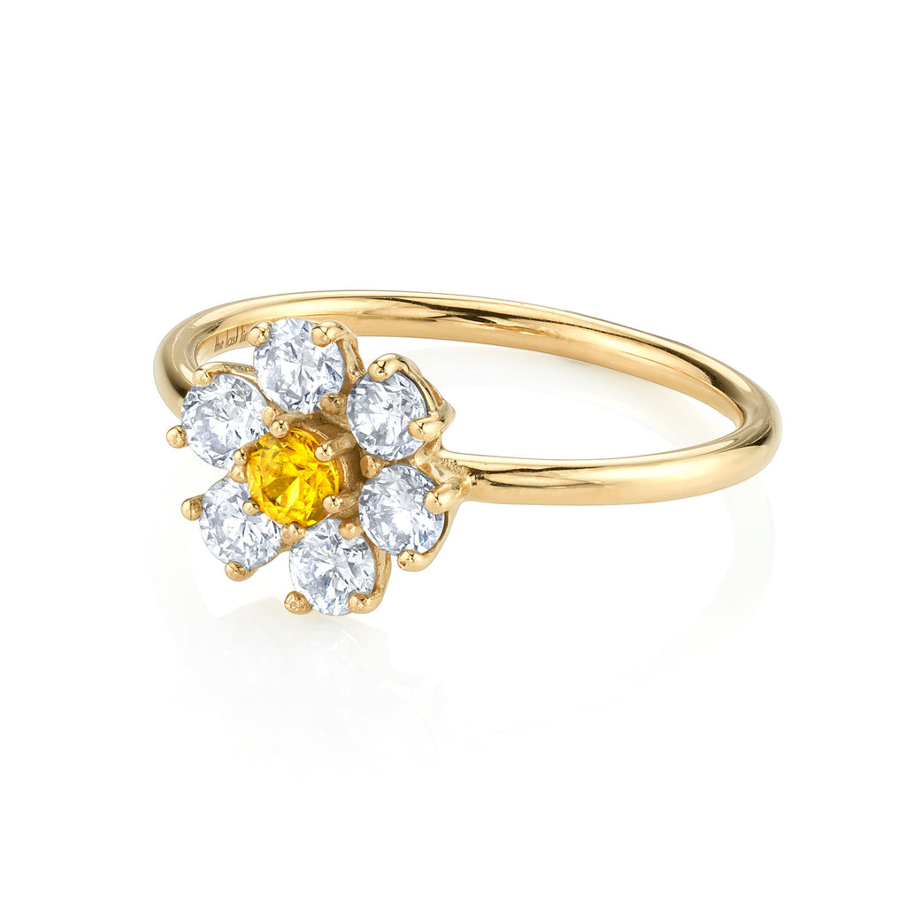DIAMOND TEDDY FLOWER RING
