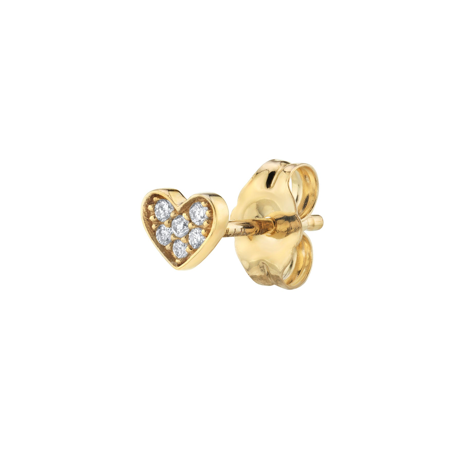 DIAMOND PAVÉ HEART STUD