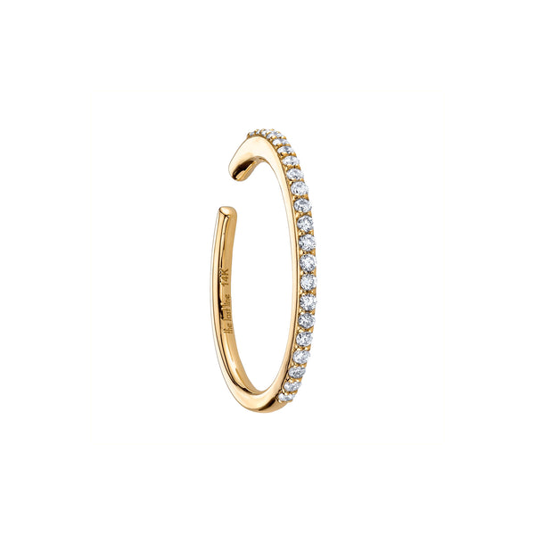 DIAMOND HOOP EAR CUFF