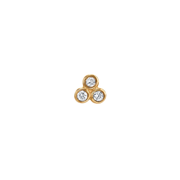 DIAMOND MINI CLUSTER PIERCING STUD EARRING