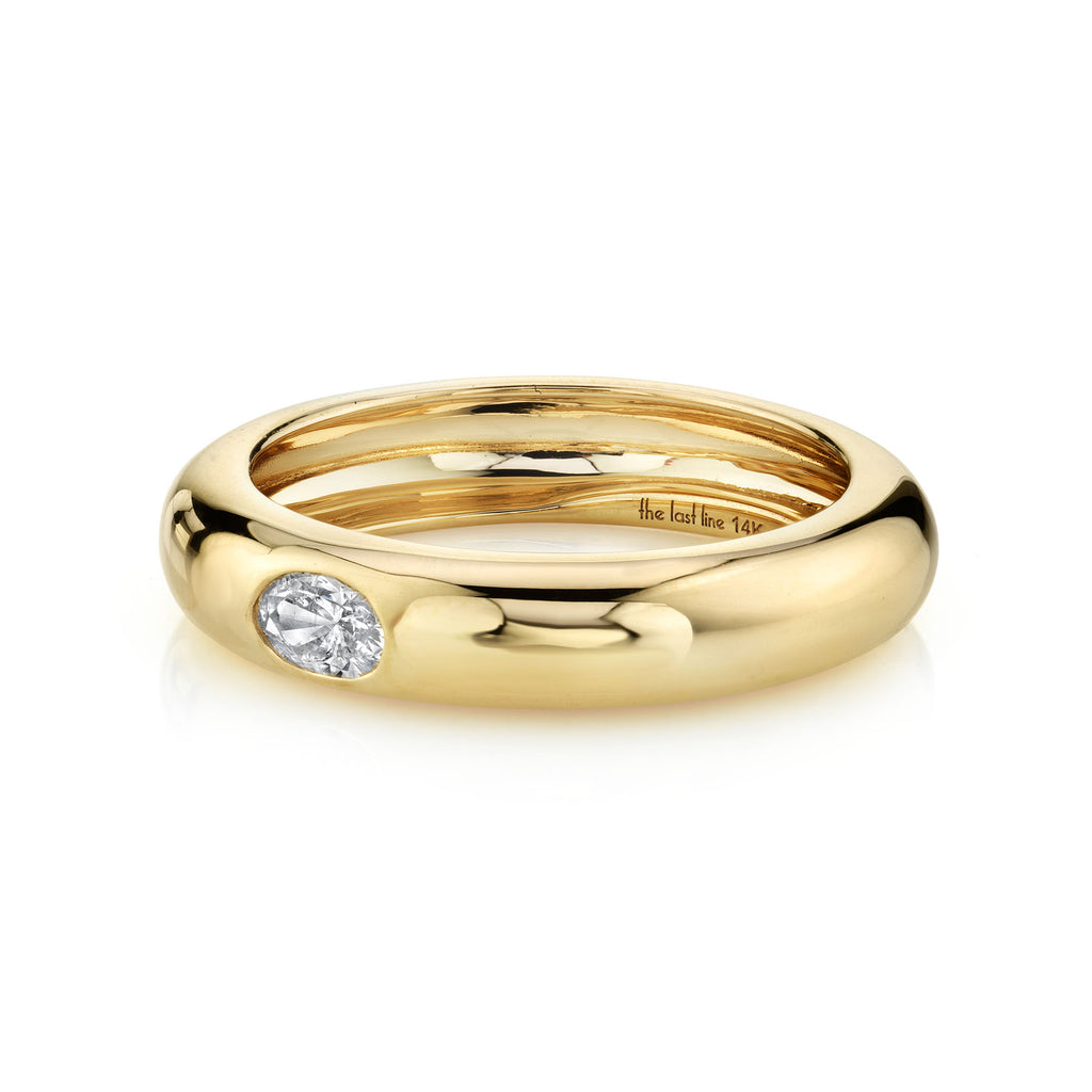 DIAMOND OVAL SOLITAIRE WIDE BAND