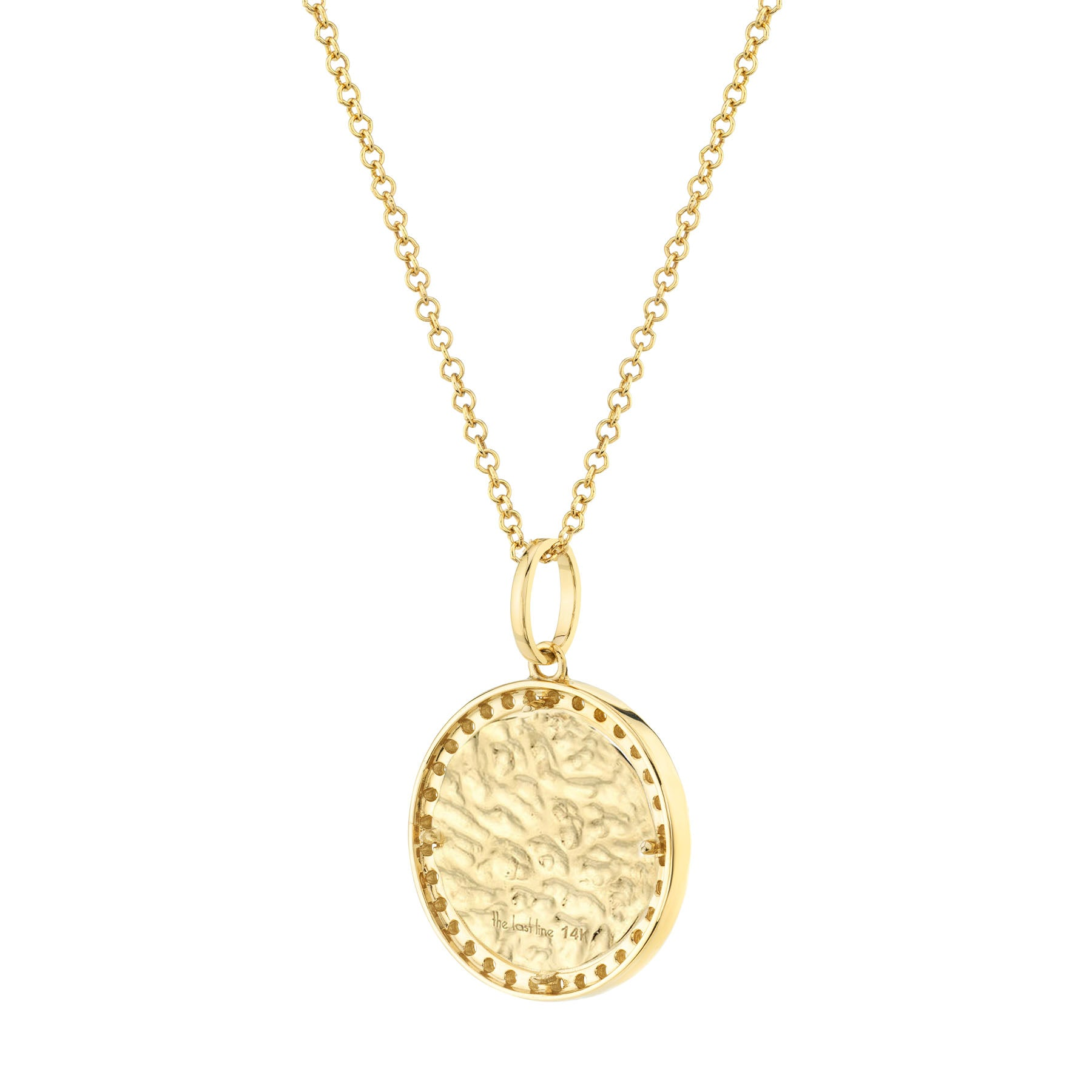 DIAMOND AND GOLD ZODIAC COIN PENDANT