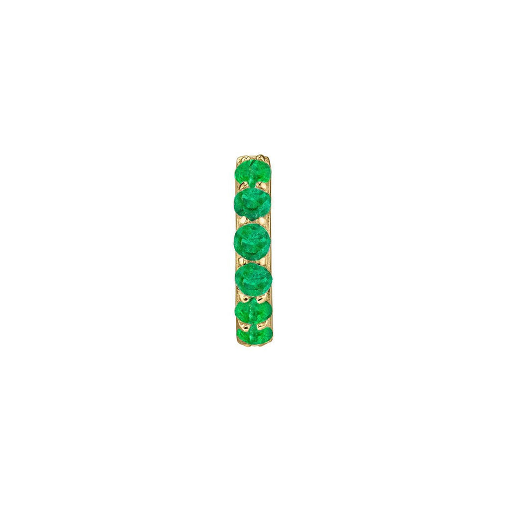 EMERALD LARGE BIGGIE EARRING