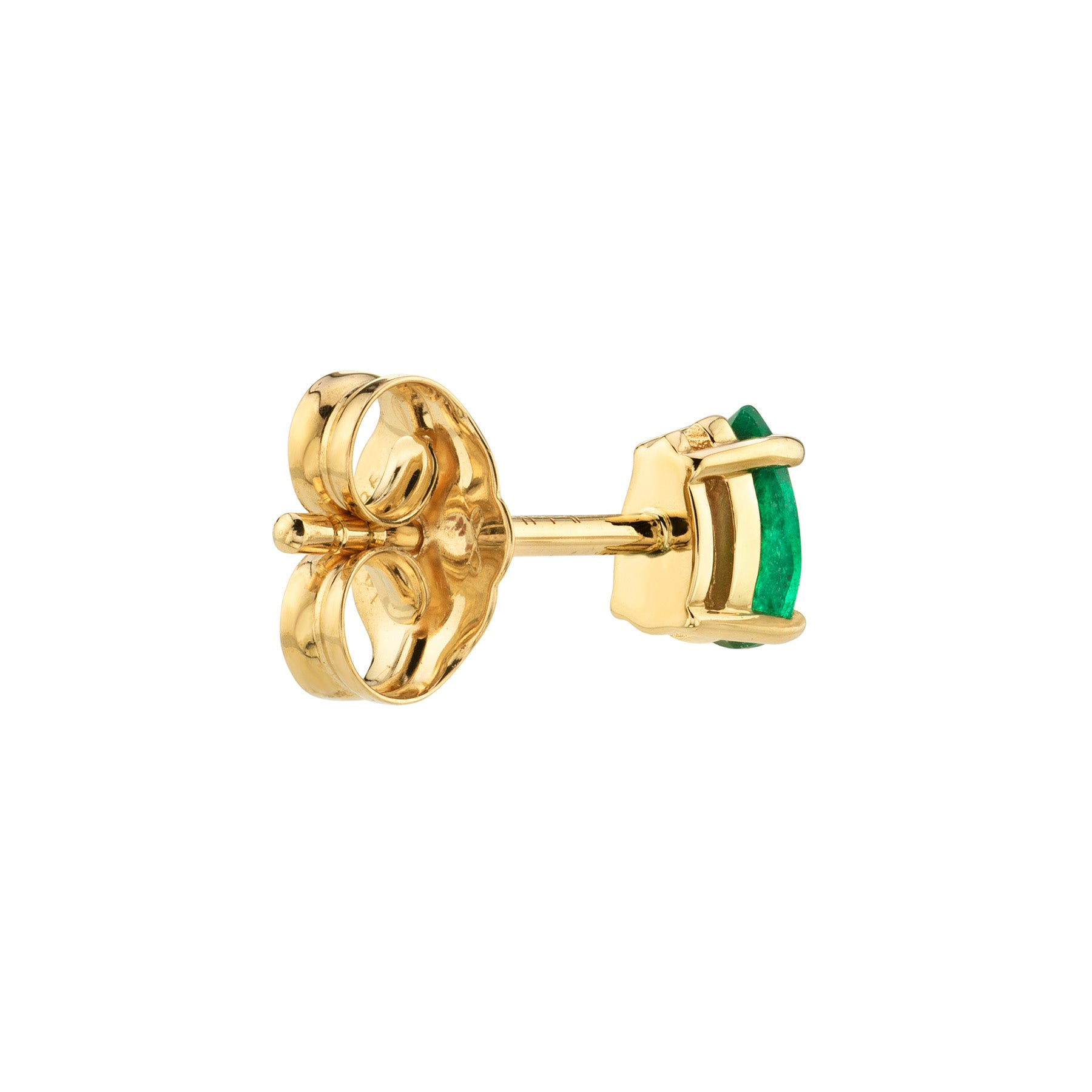 EMERALD PEAR STUD EARRING