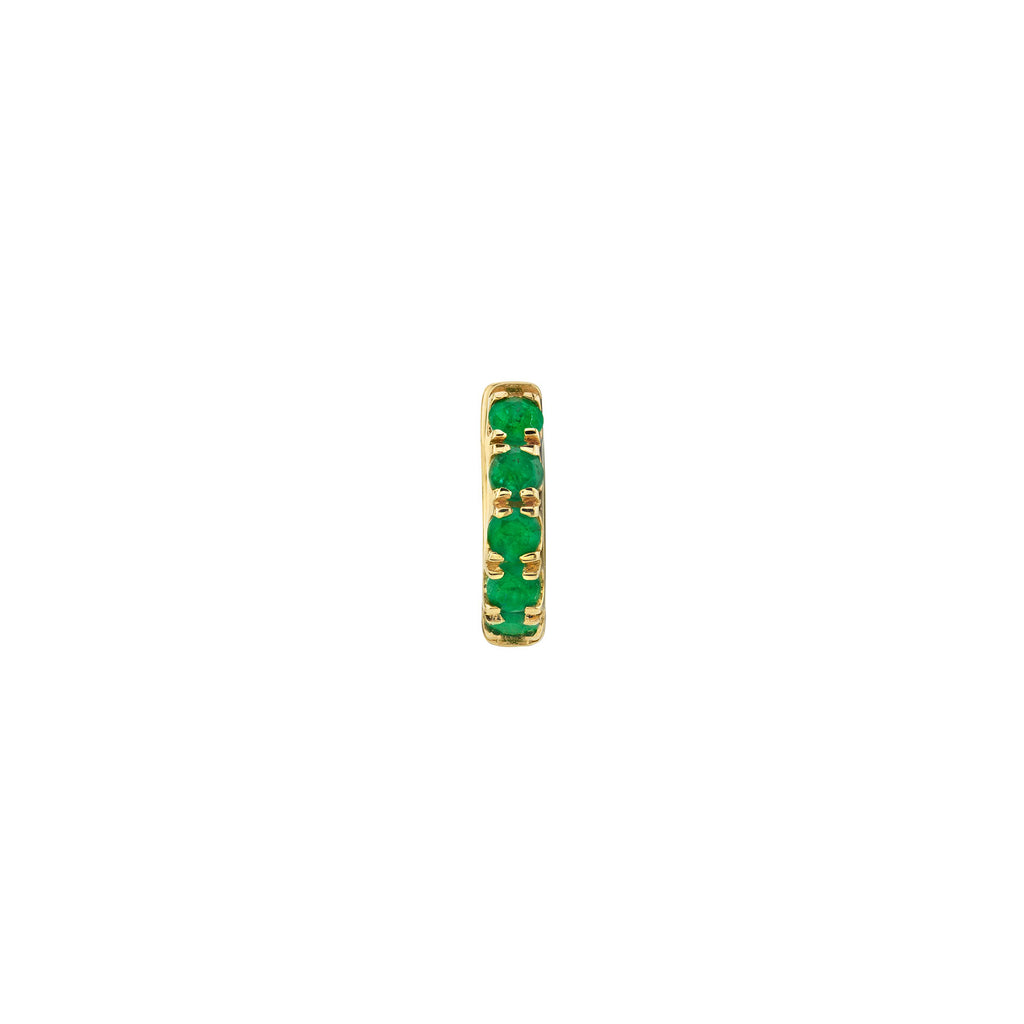 EMERALD SMALL ULTIMATE INSIDE OUT HOOP EARRING