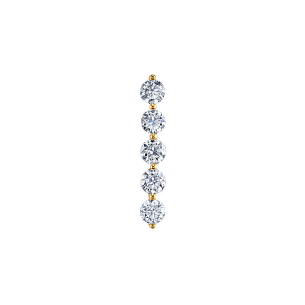 DIAMOND FIVE STUD EARRING