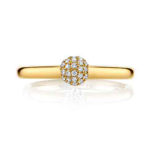 DIAMOND PAVE SPHERE RING