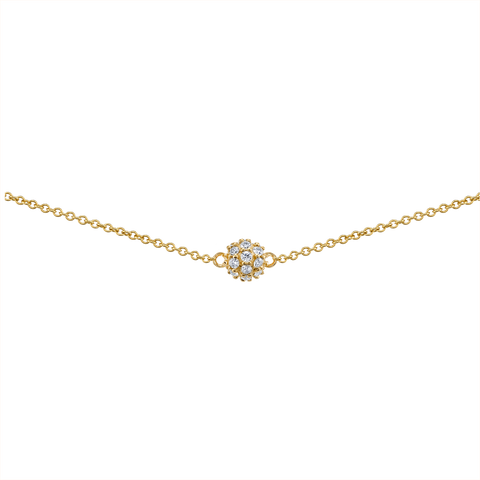 DIAMOND PAVE SPHERE COLLAR NECKLACE