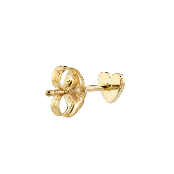 GOLD HEART STUD